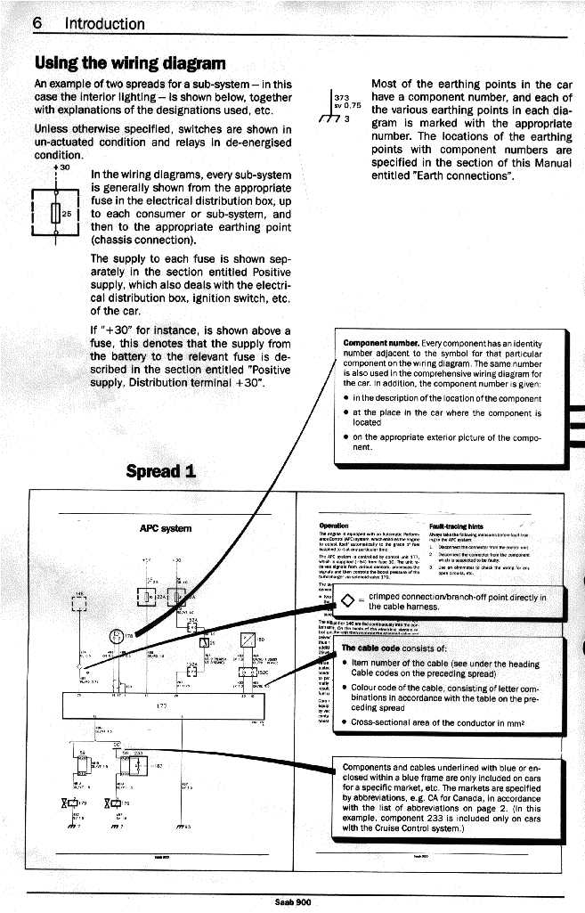 electrical 900 89 90 rh townsendimports com Saab Cooling System Diagram Diagram of the Battery in Saab 9 3 Convertible