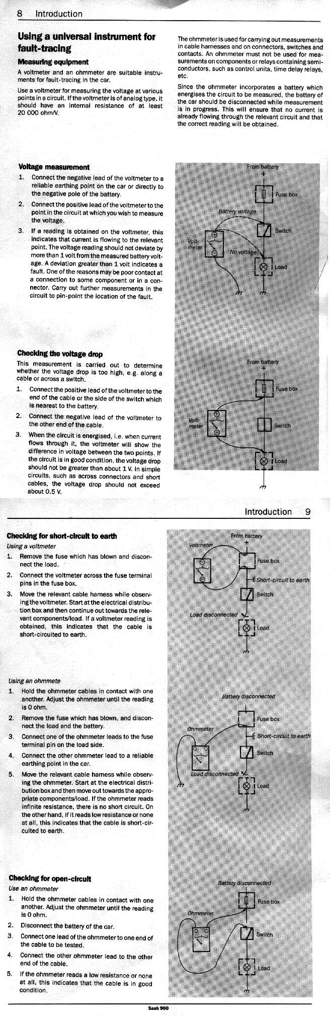 electrical 900 89 90 rh townsendimports com Saab 9 3 Electric Diagram Saab Electrical Wiring Diagrams