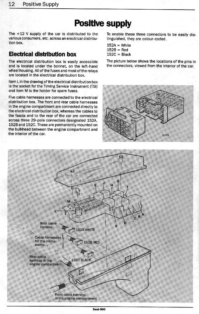 saab 900 stereo wiring diagram electrical_900_89-90