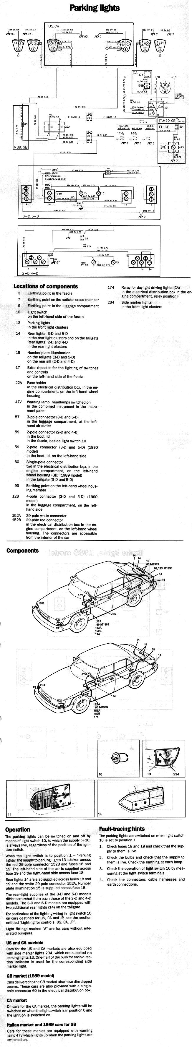Electrical 900 89 90 Saab Ignition Wiring Diagram 88 Ezk System With Tachometer 1990 Model Battery Charging