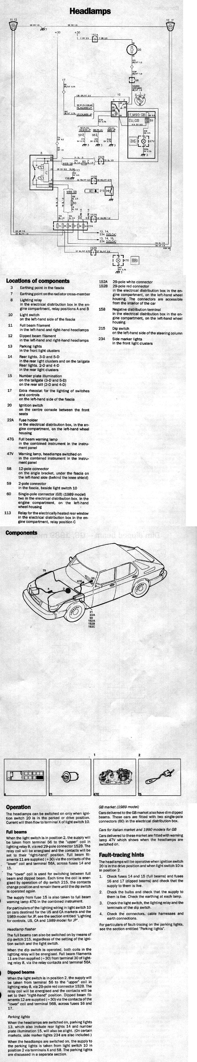 Electrical 900 89 90 Apc Tachometer Wiring Diagram 94 System 98 Lighting Systems Headlamps